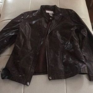 Liz Claiborne brown leather jacket